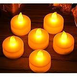 YINING キャンドルライト LED 蝋燭 クリスマス/パーティー/結婚式/誕生日用 12個入り 点滅仕様 YELLOW