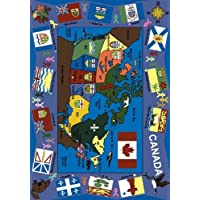 Educational Flags of Canada Kids Rug Rug Size: 5'4 x 7'8 by Joy Carpets