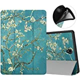 MoKo Case for Samsung Galaxy Tab S4 10.5 with S Pen Holder, Soft TPU Ultra Slim Trifold Stand Cover with Auto Wake/Sleep for Galaxy Tab S4 10.5 Inch 2018 (SM-T830/T835/T837) Tablet - Almond Blossom