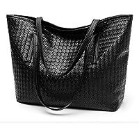 Women's Soft Leather Tote Shoulder Bag Extra Large Capacity Handbag for Work