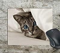 こっそり見つめる猫コンピューター滑り止めマウスパッドマウスパッドマウスマットマットパッド