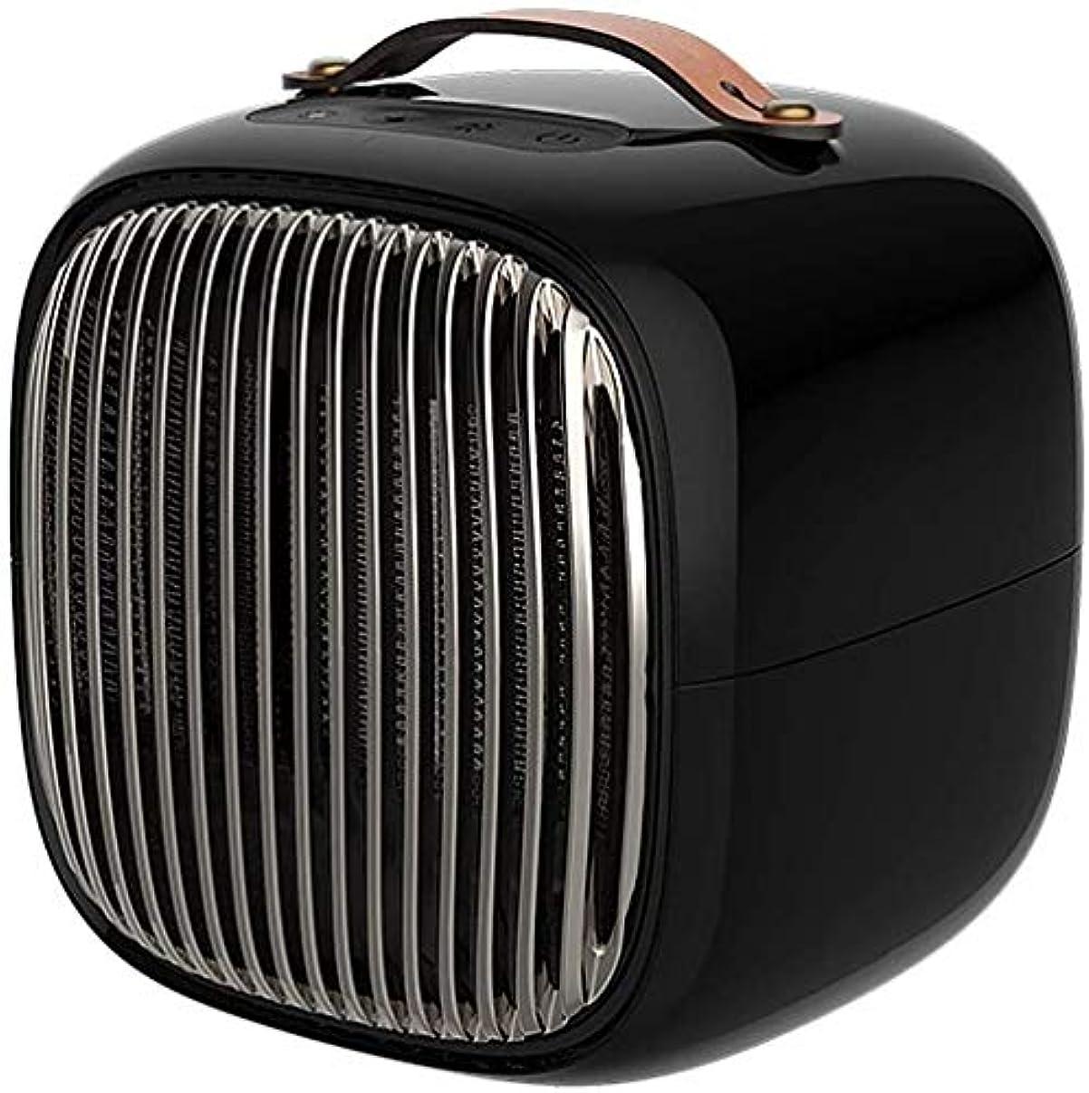 演じる処方する尋ねるレッドスターセラミックスペースヒーターポータブルミニ電動ヒーターファン(調節可能なサーモスタット付き)ホット&ナチュラルウインド、2秒ヒートアップ自動振動とシャットオフヒントオーバーオーバーヒート保護超低音、家庭用のオフィスバスルーム、800W (ホワイト) (ブラック)