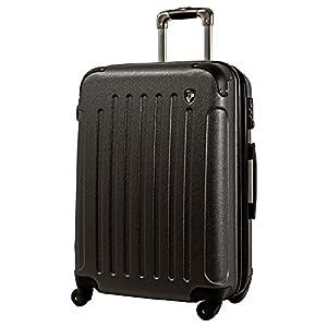 M型 グレー / newFK10371 スーツケース キャリーバッグ 軽量 TSAロック (4~7日用) マット加工 ファスナー開閉タイプ