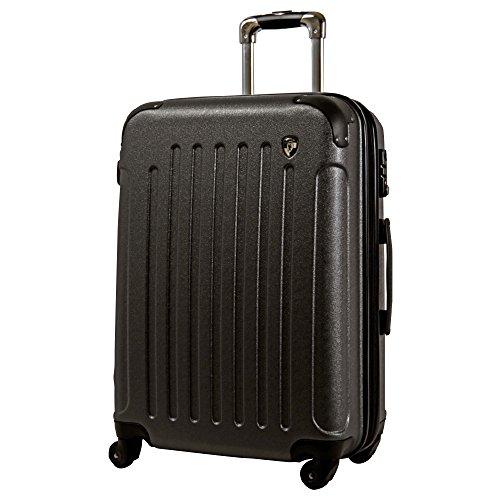 S型 グレー / newFK10371 スーツケース キャリーバッグ 軽量 TSAロック (2~4日用) マット加工 ファスナー開閉タイプ