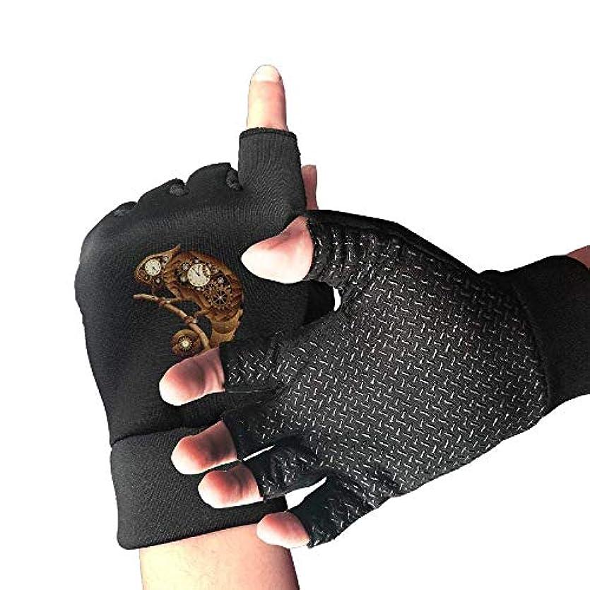 慰め潜在的なテクスチャーCycling Gloves Clock Lizard Men's/Women's Mountain Bike Gloves Half Finger Anti-Slip Motorcycle Gloves