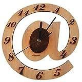 GIFT GARDEN 掛け時計 木製 @の模様 B6003