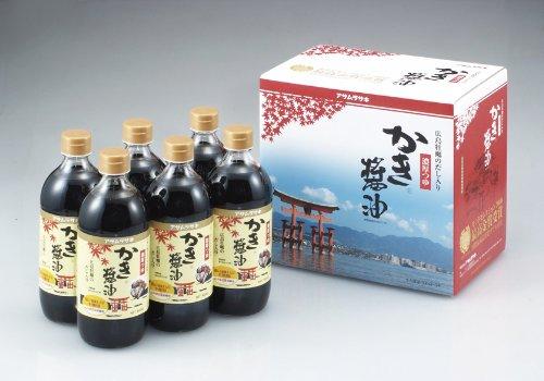 アサムラサキ アサムラサキ かき醤油濃厚つゆ 600ml×6本
