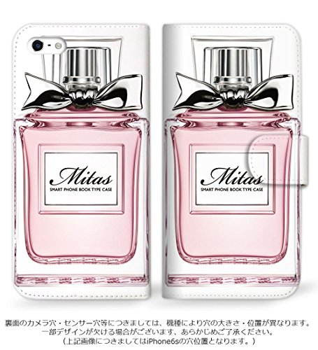 mitas DIGNO ISW11K ケース 手帳型  人気デザイン 香水1[ピンク] (83) SC-0197-20943171/ISW11K