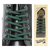 THE SHOESTRING ワックスコーティング靴ひも ブーツタイプ シューレース (グリーン、160cm)