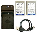 Nucleus Power オリンパス BLS-1/BLS-5 ×2個 +USB充電器のセット 互換バッテリー BI-2S-O(BLS)