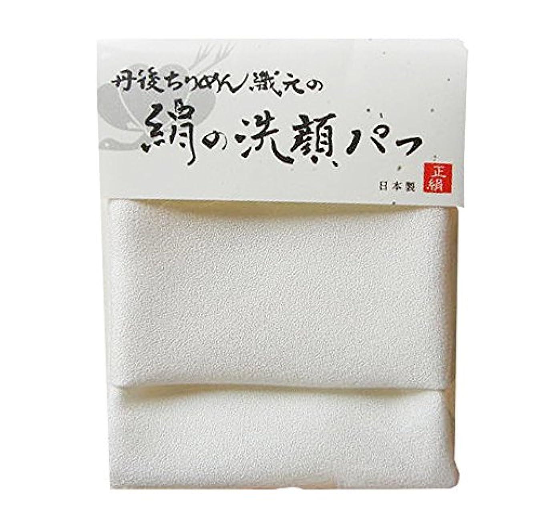 人類解体する阻害する【NHKイッピンで紹介!】丹後ちりめん織元の絹の洗顔パフ