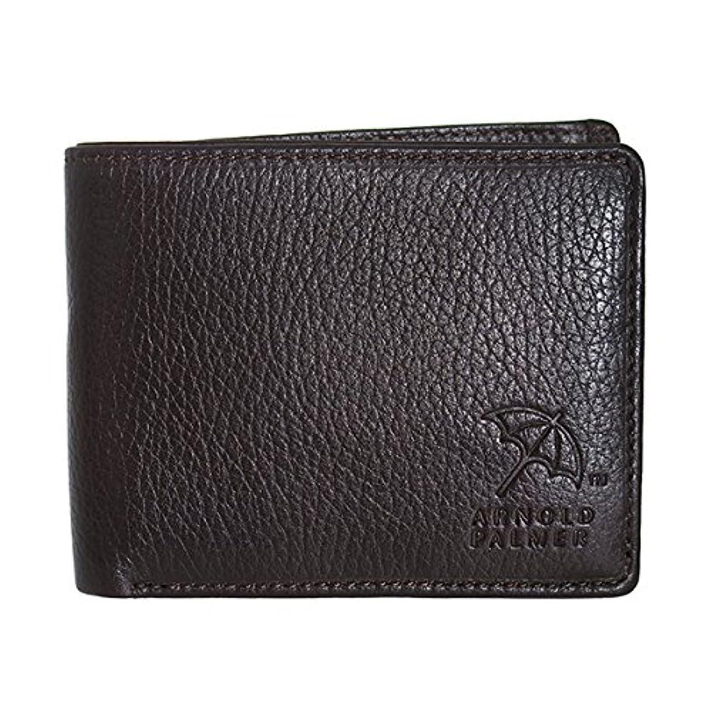 道徳の分割鍔アーノルドパーマー 二つ折り 短財布 4AP3140-BR ブラウン