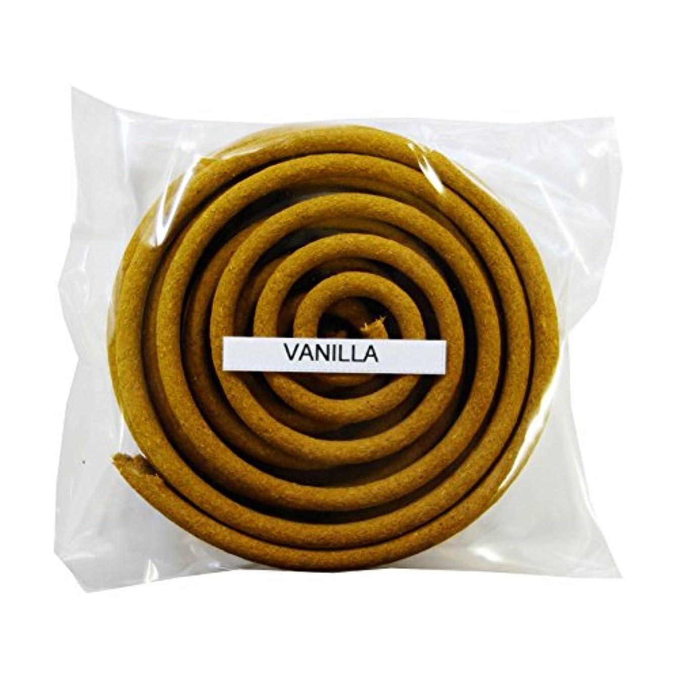 腹ふざけた知るお香/うずまき香 VANILLA バニラ 直径6.5cm×5巻セット [並行輸入品]