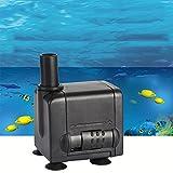 AWHAO 小型水中ポンプ 6W 水族館給水 池ポンプ 濾過池 濾過装置 濾過器 濾過ポンプ 排水ポンプ 吐出量450L/H 最大揚程0.9M 水槽水 循環ポンプ 静音 超静音設計 50%の省エネ PSE認証