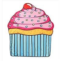 wesource Activates Cupcakesプリントビーチタオルラウンドビーチブランケットマイクロファイバー150 x 150 cm