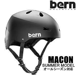 bern(バーン) bern ヘルメット MACON オールシーズンモデル Matte Black バイザー無し メーコン 自転車 BMX スケボーヘルメット バーン ヘルメット XXXL(62-63.5cm)