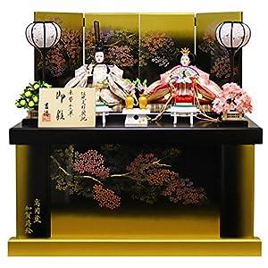 吉徳 雛人形 親王収納飾り 間口60×奥行41×高さ60cm 高岡塗収納箱 605455