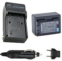 Genericバッテリーと充電器for Canon VIXIA HF r40、HF r42、HF r400HDビデオカメラ