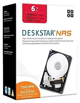 HGST Deskstar NAS 6TB パッケージ版 3.5インチ 7,200rpm 128MB SATA 6Gb/s 【3年保証】HDD 0S04007