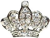 きらきら ロイヤル クラウン 王冠 ピンバッチ 王室風 ブローチ ラペルピン メンズアクセサリー レディースアクセサリー【シルバー/銀】