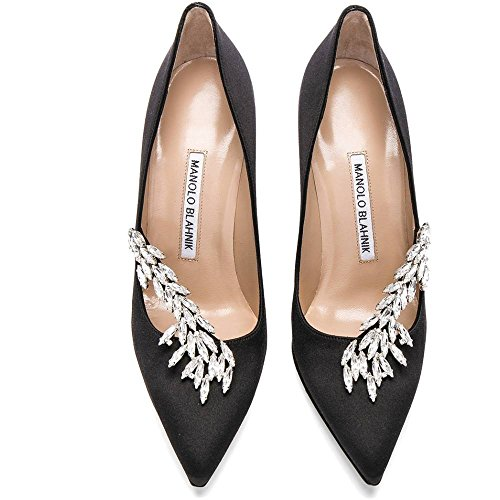 (マノロブラニク) Manolo Blahnik レディース シューズ・靴 ヒール Satin Nadira Heels [並行輸入品]