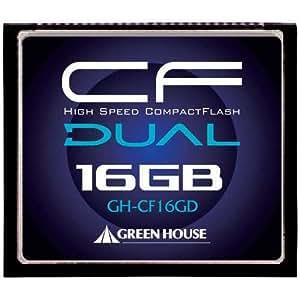 グリーンハウス 233倍速(37MB/s)ハイスピードコンパクトフラッシュ 16GB GH-CF16GD
