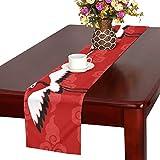 LKCDNG テーブルランナー 赤い すてき 和風のつる クロス 食卓カバー 麻綿製 欧米 おしゃれ 16 Inch X 72 Inch (40cm X 182cm) キッチン ダイニング ホーム デコレーション モダン リビング 洗える