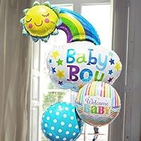 即日発送対応 出産祝い バルーンギフト Baby 【Boy】 ハッピーサン ヘリウムガス入り3個 33658 33776