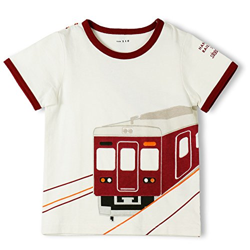 (スキージー) skeegee skeegee×阪急電車車両リンガーTシャツ 90cm オフホワイト