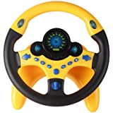 NUOBESTY Steering Wheel Plastic Durable Simulation Practical Lightweight Steering Wheel Educational Toy for Kids Toddler Chil