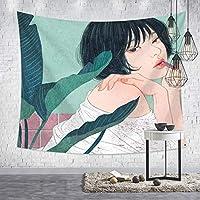 タペストリー 毛布 壁掛け 掛け物 壁吊り 多機能ホーム装飾 背景布 個性 漫画の女 装飾布 ピクニックマット ホーム装飾 部屋 寝室 リビングルーム 窓カーテン 6ツールキット付き