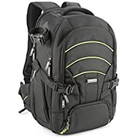 Evecase Large DSLR Camera/Laptop Travel Backpack Bag w/Rain Cover for Nikon/Sony/Canon/Fujifilm Full Frame, Mirrorless, 4/3 Micro Four Third, Compact, Interchangeable Lens Digital Camera