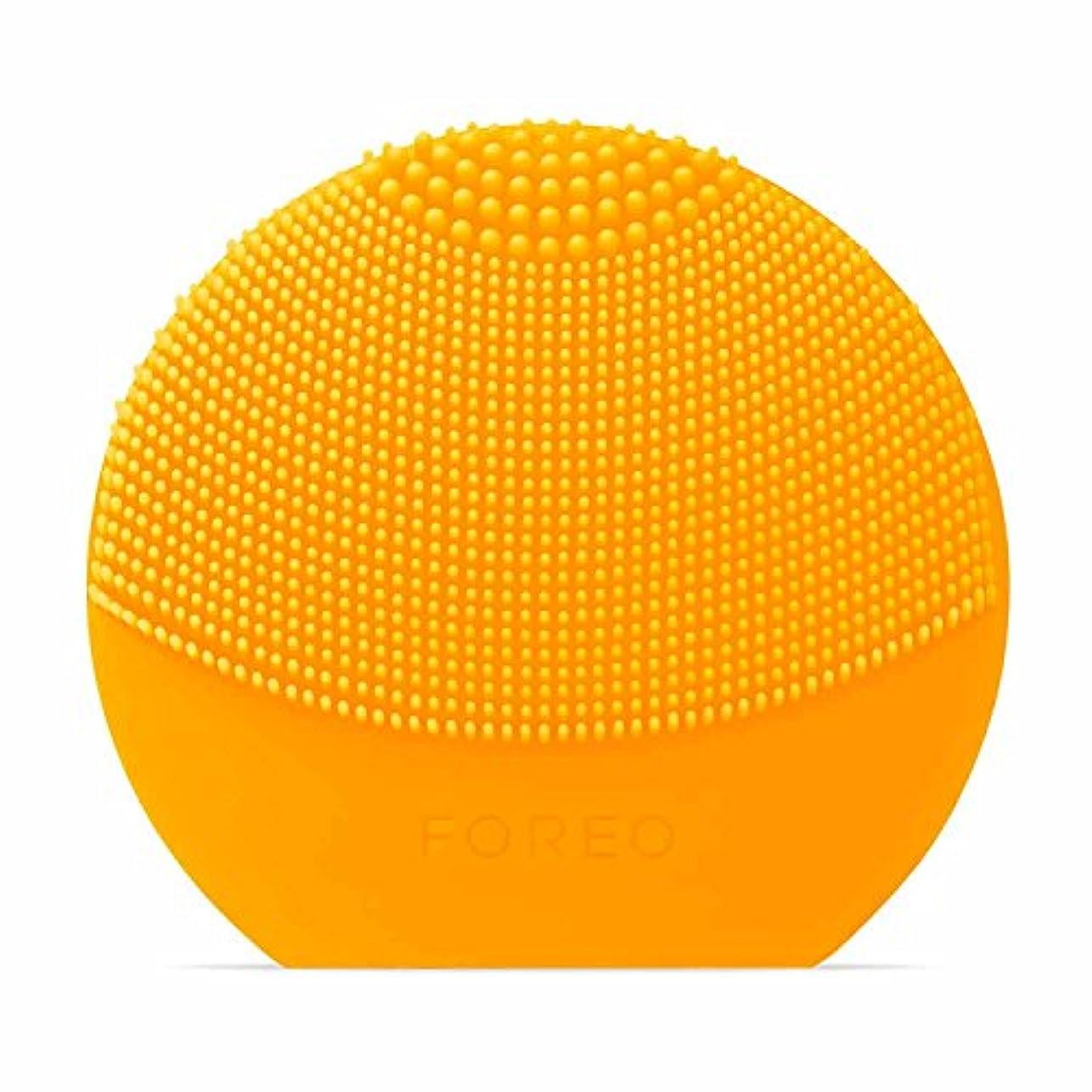 悪化させる中間精神FOREO LUNA Play Plus サンフラワーイエロー シリコーン製 音波振動 電動洗顔ブラシ 電池式