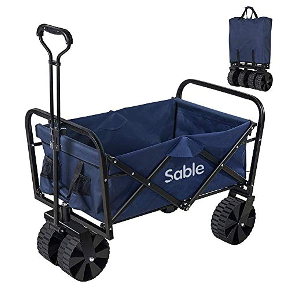 潤滑するグループブランチSable キャリーカート アウトドア ワゴン キャリーワゴン 耐荷重100kg 108L大容量 折りたたみ式 手洗い可