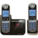 【並行輸入】Motorola DECT 6.0 Cordless Phone with 2 Handsets, Digital Answering System and Customizable Color Back Plates P1002コードレス留守番電話付き