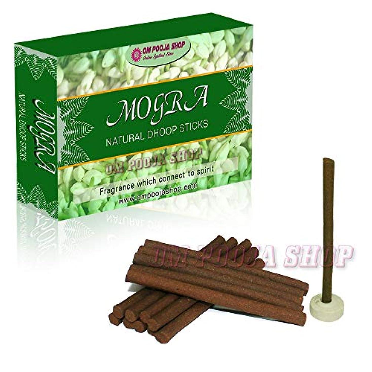 韓国語露カンガルーOm Pooja Shop Mogra (ジャスミンの花) 天然のフープスティック 100本