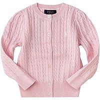 ポロ ラルフローレン キッズ レディース ケーブルニット カーディガン Cotton tops sweater 女の子 子供服 (サイズ:XL、カラー:Resort pink) Polo Ralph Lauren [並行輸入品]