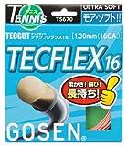 ゴーセン(GOSEN) テックガット テックフレックス16 (テニス用) コーラルピンク TS670CP