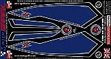 MOTOGRAFIX(モトグラフィックス) ボディーパッド SUZUKI GSX-R600/750 K4,K5(04/05) REAR ブルー/シルバー MT-RS001BS