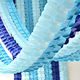 LIBERTIE Pack of 6, Hanging Garland Four-Leaf Tissue Paper Flower Garland Reusable Party Streamers for Party Wedding Decorati