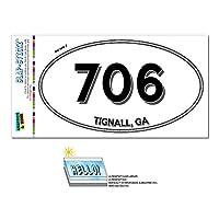 706 - Tignall, GA - ジョージア - 楕円形市外局番ステッカー