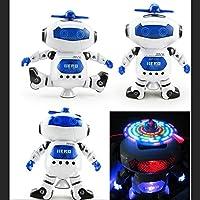 Yiwa 赤外線 360°回転 ダンシング エレクトリック スペースロボット 光と音楽付き 子供 誕生日 装飾