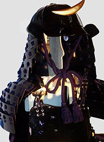 等身大着用 甲冑/鎧 プラスチック製完成品 十二間筋兜桶二枚胴セット(黒) 成人用 コスプレにも最適