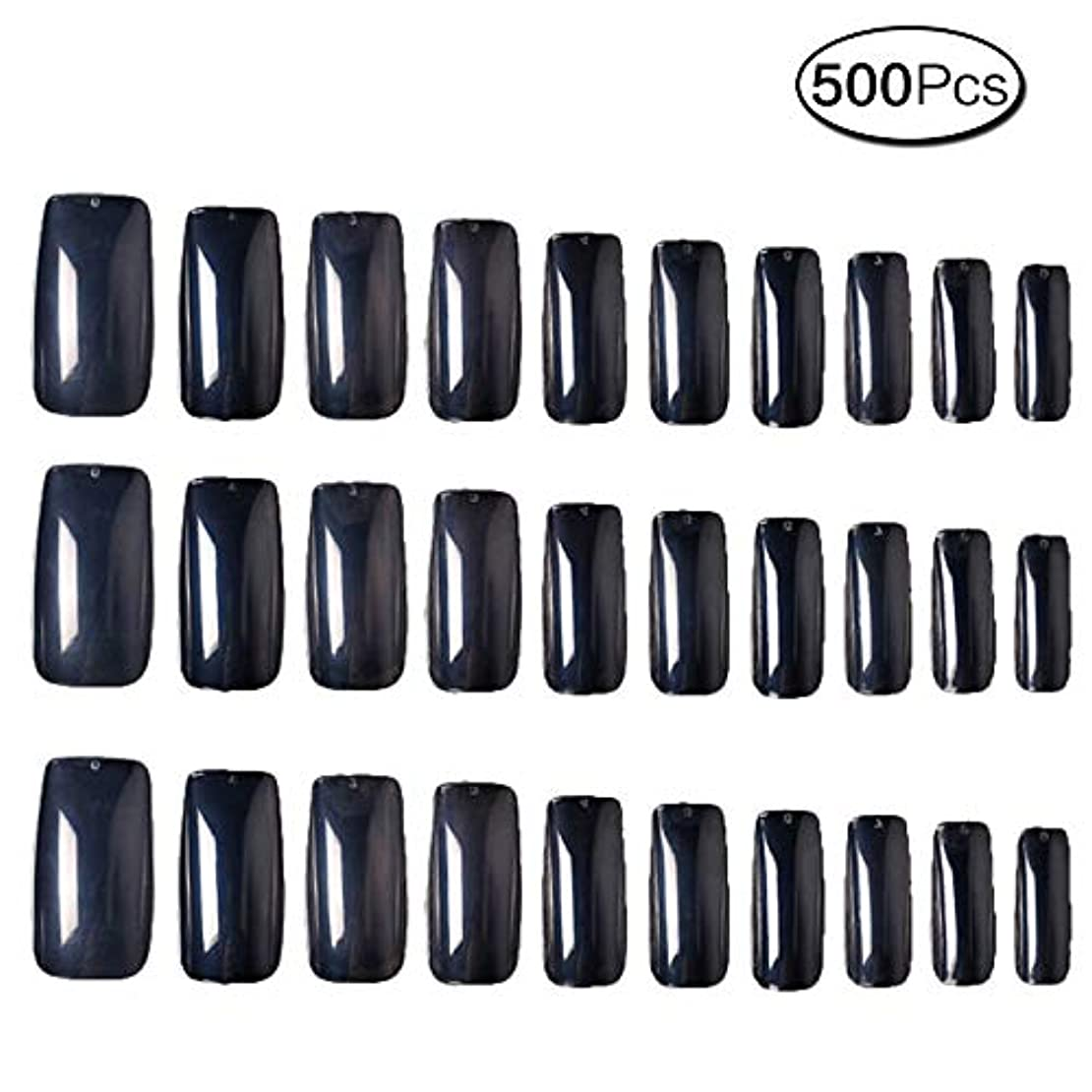 開発するヘルパー盟主500枚 10サイズ 付け爪練習用 つけ爪 無地 ロングネイルチップ透明