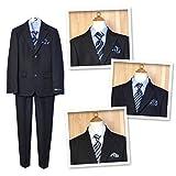 男の子 卒業スーツ フォーマル 長袖 5点セット パンツ 男児 ジュニア (3.タイプC/160cm)