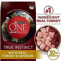 Purina One Smartblend True InstinctトルコとVenisonフォーミュラDry Dog Food 15 lb. Bag 178586