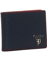 [フルボデザイン] メンズ 二つ折り財布 Furbo design FRB113 ネイビーレッド [並行輸入品]