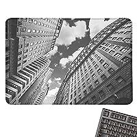 """ブラックとホワイト 大きなマウスパッド ニューヨーク市の自由の女神 有名なアメリカンモニュメント 快適なマウスパッド 9.8インチ x 11.8インチ ペールグレー ブラック ホワイト 15.7""""x23.6"""""""