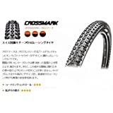 【UST チューブレス】【折畳み可能】マキシス MAXXIS MTB 軽量 タイヤ クロスマーク CROSSMARK 26X2.1 26インチ用 1本 TR