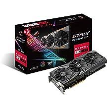 ASUS ROG-STRIX-RX580-T8G-GAMING ROG Strix Radeon RX 580 TOP Edition 8 GB GDDR5 Graphics Card - Black